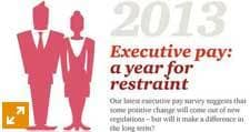2013: A year of restraint for executive pay