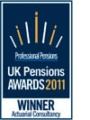 Professional Pensions Awards 2011 logo