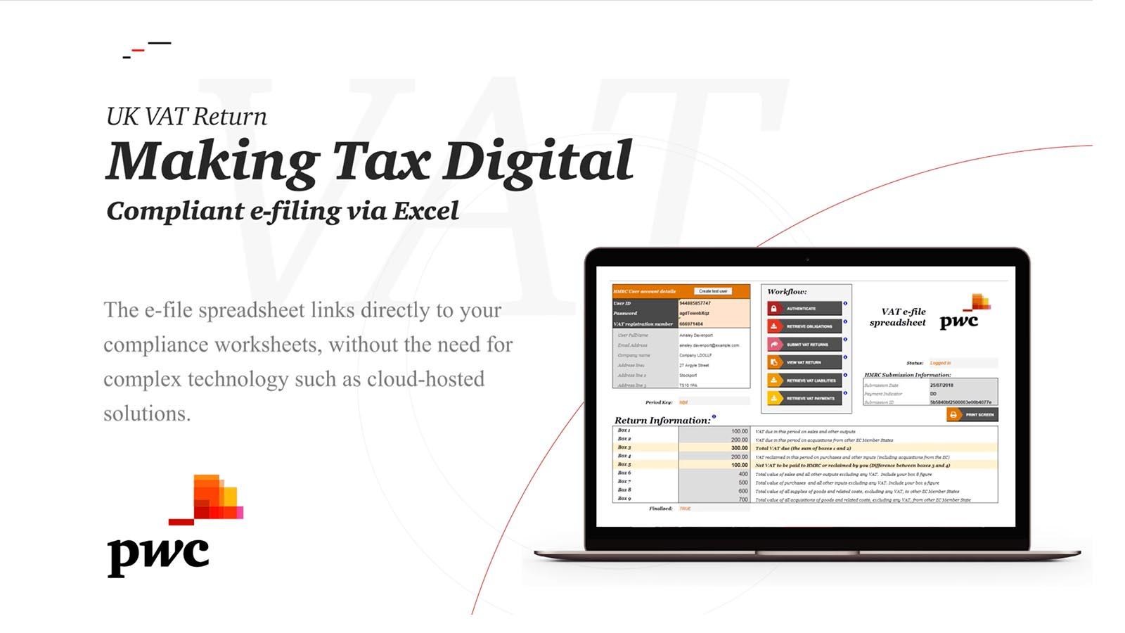 VAT e-file spreadsheet | PwC